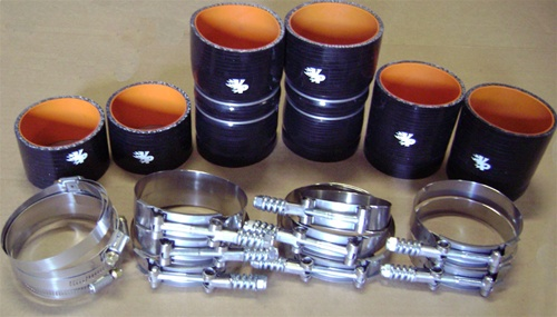 7.3 Powerstroke Specs >> PowerStroke 7.3L Late 99- 03 Intercooler Boot Kit w/ Spring Clamps